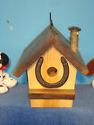 bird house made with black walnut and ash rustic made USA