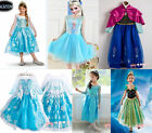 Frozen Princess Queen Elsa Anna Cosplay Costume New Party Fancy Dress 2-8Y Crown