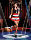 Ladies Costume Fancy Dress Up Circus Clown Jester Cosplay(103)Sz 6,8,10,12,14,16
