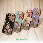 Vintage floral flower case pu leather flip cover for HTC One M9 / HTC One M7