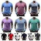 Men's V- Neck T-Shirt Slim Soft Fashion Basic Plain Casual Sports Active Gym tee image