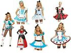 Ladies Teen Alice in Wonderland Costume Fairytale Fairy Tale Book Movie Queen