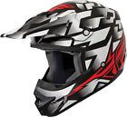 Fly Racing White/Red/Black Adult & Youth Kinetic Block Out Dirt Bike Helmet MX