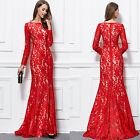2017 New women Red lace long formal evening wedding mother of bridal dresses 12