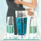 Personalized Custom Monogram Unity Sand Wedding Ceremony Glass Vase 3 pc Set New