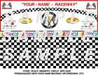 HO-1 32 WINNERS CIRCLE WALL & CHECKERBOARD FLOOR,  PERSONALIZED WITH YOUR NAME