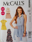 McCalls M6925 Petite Sleeveless Short Sleeve Top Tunic Dress Sewing Pattern 6925