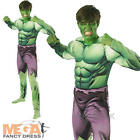 Incredible Hulk Muscle Mens Fancy Dress Avengers Superhero Adults Costume Outfit