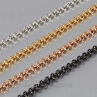 """New Exquisite 4MM Stainless Steel Anchor Chain Gorgeous Necklace 18"""" 24"""" 30"""" 40"""""""