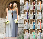 Plus size 6-26 Long Chiffon Prom Evening Bridesmaid Dresses Ball Party Gowns