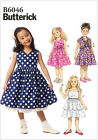 Butterick 6046 Girls Shrug Dress Ruffles Ra Ra Party Sewing Pattern B6046