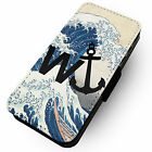W'anchor Great Wave of Kanagawa - Printed Faux Leather Flip Phone Cover Case - Best Reviews Guide