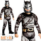 Deluxe Batman Armour Boys Fancy Dress Dawn of Justice Superhero Childs Costume