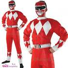POWER RANGERS ~ Mighty Morphin Red Power Ranger - Adult Muscle Chest Costume