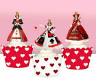 CUSTOM PEOPLE TOPPERS Queen of Hearts Birthday Party Cupcake PRECUT cup cake