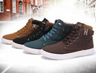 NEW Mens Shoes Fashion Leather Shoe Casual High Top Shoes Canvas Sneakers
