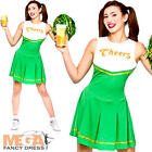 Cheers Cheerleader Ladies Fancy Dress St Patricks Day Green Womens Adult Costume
