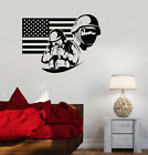 Vinyl Decal American Flag Soldier Military War USA Decor ...