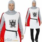 Mens Knight Crusader Medieval Book Week King Arthur Fancy Dress Costume