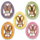 ASSORTED SUGAR BUNNY HEADS CUPCAKE TOPPERS  Edible Sugar Easter Cake Decoration