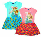 Girls Disney Frozen Anna & Elsa Sunflowers Tiered Rara Skirt Dress 2 to 8 Years