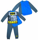 Boys DC Comics BATMAN Muscle Body Novelty Pyjamas with Cape 2 to 8 Years