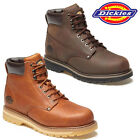 MENS NON-SAFETY DICKIES WELTON HIKING WORK DESERT ANKLE LEATHER BOOTS SHOES SIZE