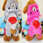 Couple Pet Small Dog Clothes Boy Girl Full 4 Legs Hoodie Jacket XS-XXL Christmas
