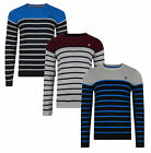 Kangol New Men's Stripe Jumper Cotton Crew Neck Knit Pullover Top Sweater