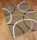 "Luna Nova Modern Rug Circles Abstracts in Taupe size 200x290cm (6'7""x9'6"")"
