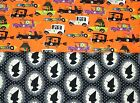 JoAnn Halloween Monster Automobiles OR Witch SILHOUETTE PRINTS HALF YARD CHOICE