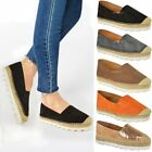 gold flatforms - WOMENS LADIES FLAT ESPADRILLES MOCCASIANS FLATFORMS DECK WEDGE SHOES PUMPS SIZE