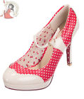 DANCING DAYS by Banned MARY JANE PATENT polka dot 50s SHOES RED & NUDE