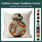 Star Wars Themed 100% Cotton Natural Linen Cushion Cover Pillow Case Home Decor $8.95 AUD