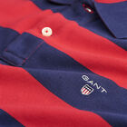 Gant Barstripe Pique Mens Casual Designer Polo Shirt in Red and Navy Regular Fit