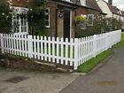 White Primed Wooden Picket Fencing