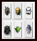 STAR WARS CHARACTER PHONE CASE FOR SAMSUNG S3 S4 S5 S6 S7 EDGE AND MINI £3.99 GBP