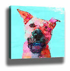 COLOURFUL DOG MODERN POP ART HIGH QUALITY CANVAS PRINT - MULTI SIZES