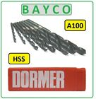 DORMER A100 JOBBER DRILLS FOR STEEL & METAL SIZES FROM 1.6MM TO 3.40MM METRIC