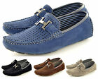 Mens Perforated Faux Suede Casual Loafers Moccasins Shoes IN UK Sizes 6-11