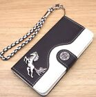 Running Horse Wallet Leather Flip Handmade Stand Case Cover For Apple iPhone