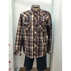 **NEW**MENS PURE WESTERN BY THOMAS COOK DEAN CHECK SHIRT-WESTERN-COUNTRY-FARM