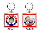 "Donald Trump Presidential Key chains, Key rings 1.5""x 1.5"""