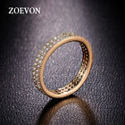 Romantic Women Wedding Band Jewelry Charms Gold Plated Engagement Ring CZ Paved