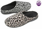LADIES WOMENS LEOPARD PRINT DUNLOP MULES SLIPPERS SLIP ON LOW HEEL SHOE SIZE