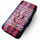Chant- A Young Boy - Grunge Blue Red Stripe Faux Leather Flip Phone Case CP