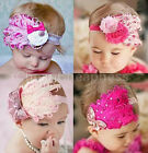 1X Cute Baby Kids Girl Infant Toddler Feather Headband Lace Flower Hair Band Hot