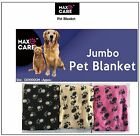 NEW JUMBO LARGE SIZE SOFT DOG PUPPY CAT KITTEN FLEECE PET BLANKETS 100 X 120 CM