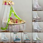 Baby bedding set for wicker moses, voile canopy