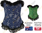 Dragon Corset Top Ladies Fashion Black Lace Embroidery Busk Clips Cosplay New